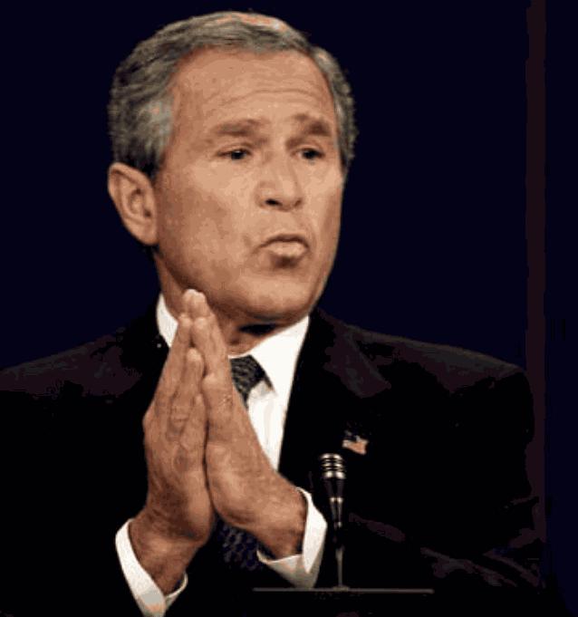 Джордж Буш руки