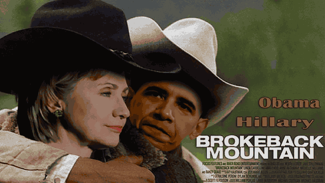 пародия Обама и Хиллари фильм Горбатая гора