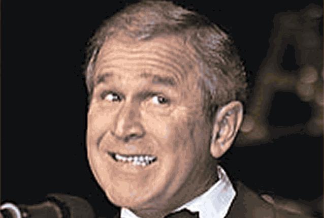 Джордж Буш мимика