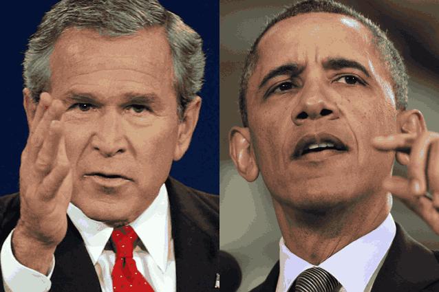 Джордж Буш и Обама