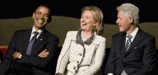 Обама Хиллари Билл Клинтон