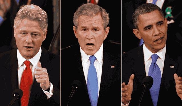 Клинтон Буш Обама