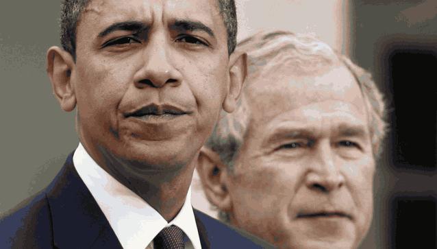 Барак Обама Джордж Буш