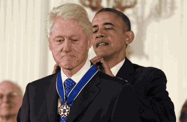 Билл Клинтон и Обама