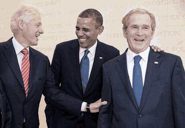 Клинтон Обама Буш