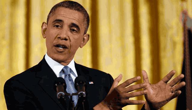 Обама жестикулирует